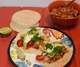 Smoked Paprika Chicken Tacos with Spicy Goat Cheese