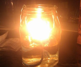 Waste Veggie Oil Lamp/Candle