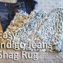 Indigo Jeans Shag Rug