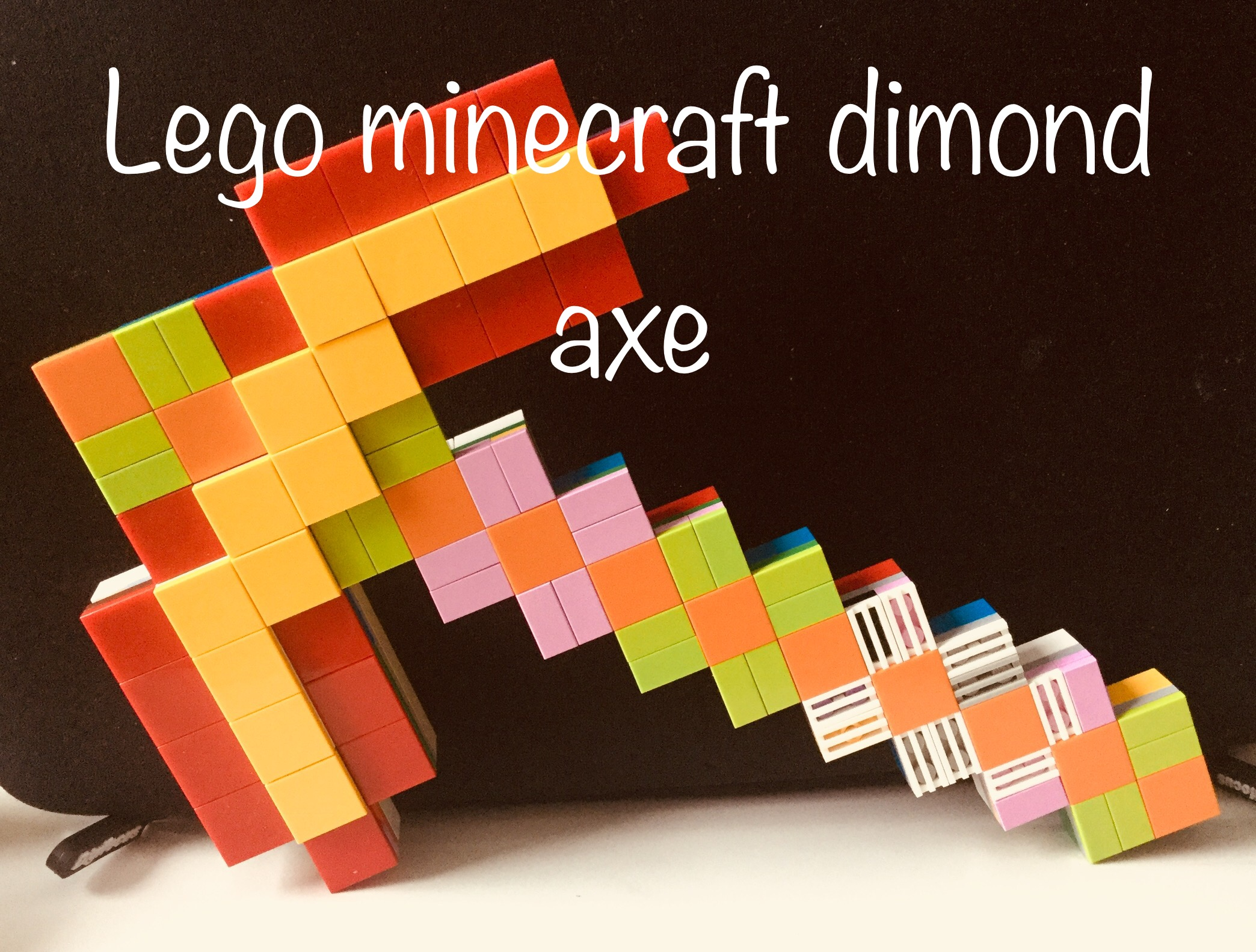 Picture of Lego Minecraft Diamond Pickaxe