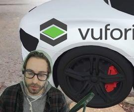 增强现实Vuforia 7地面平面检测。