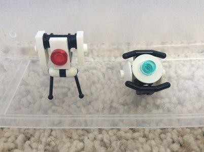 Lego Portal 2 Sentry Turret and Wheatley