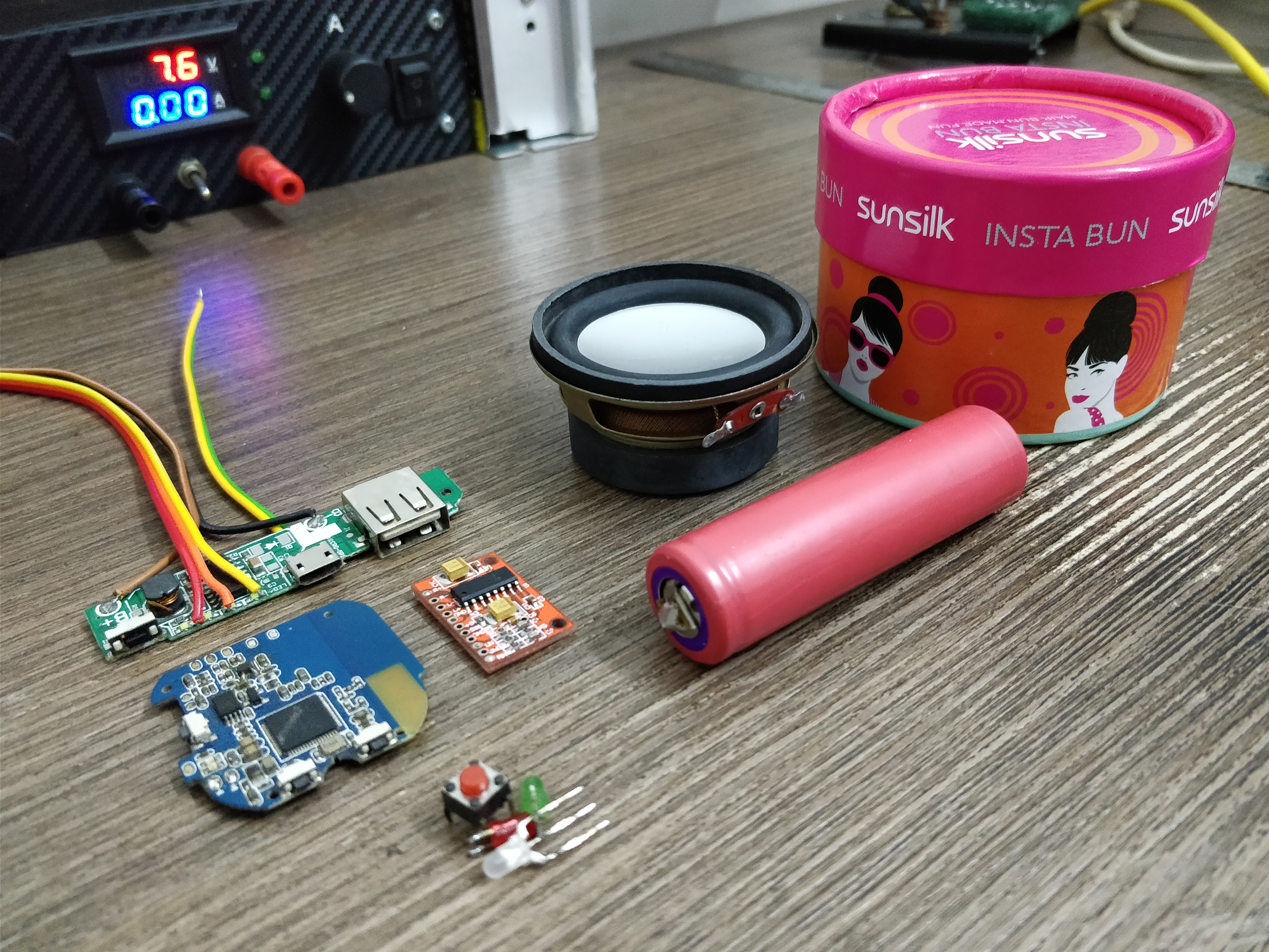 Picture of DIY Portable Bluetooth Speaker With Powerbank.