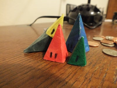 Papercraft IceHouse Game Pieces