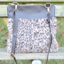 How to sew a faux fur crossbody bag