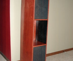 Speaker Cabinet and Art Shelf From Old Car Speakers