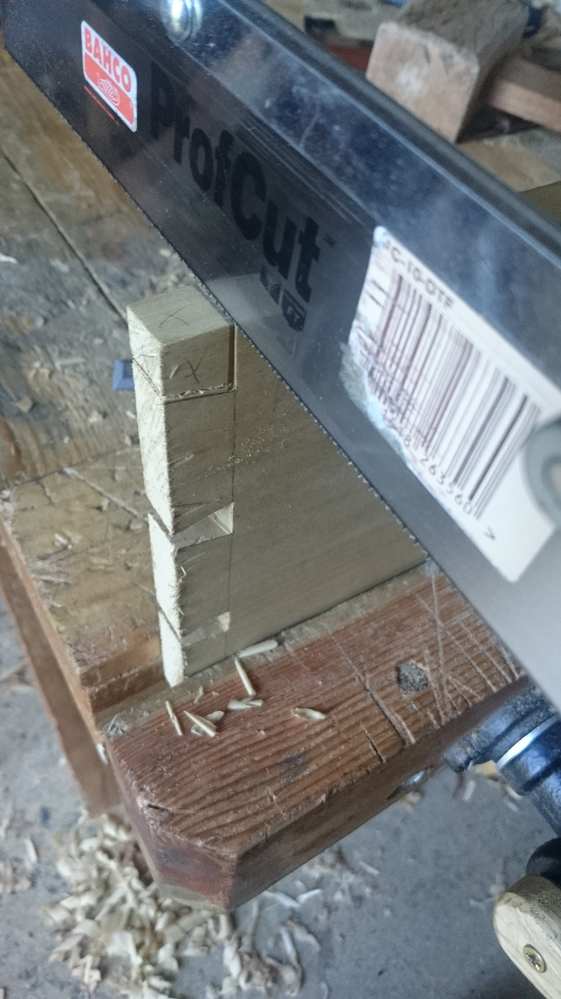 Picture of Cutting the Dovetails