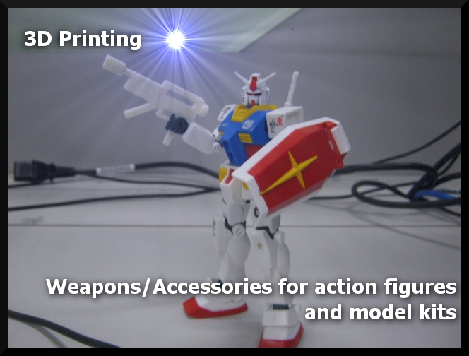 Picture of 3D Printing Weapons/Accessories for Action Figures and Model Kits
