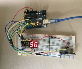 Arduino Ultrasonic Distance Meter With 7 Segment Display.