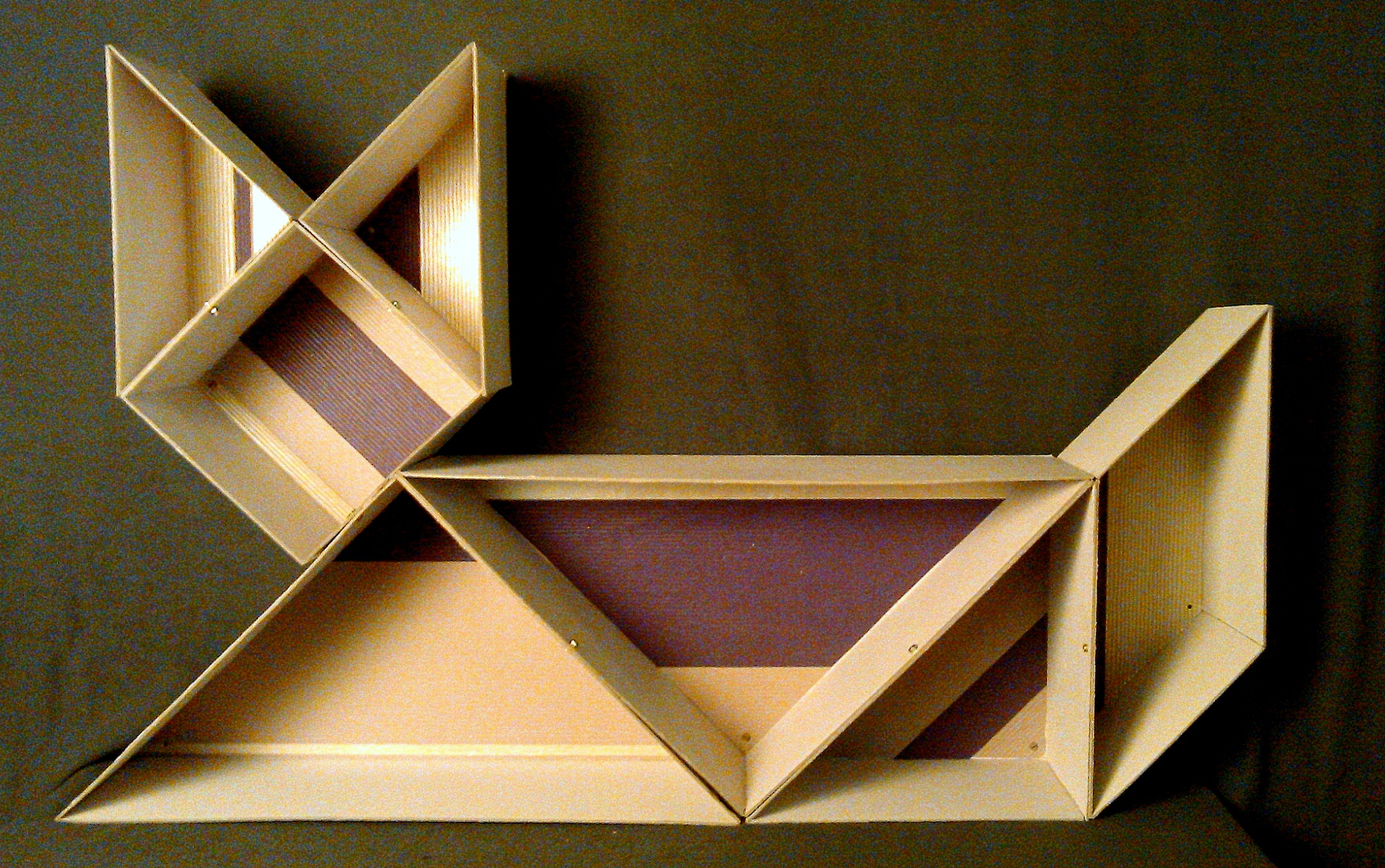 Picture of Shape Changing Tangram Organizer With Secret Compartment
