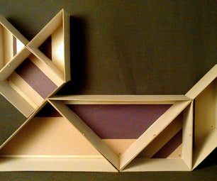 Shape Changing Tangram Organizer With Secret Compartment