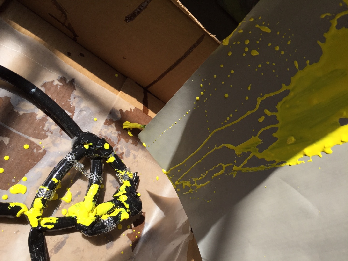 Picture of Apply Yellow Acrylic Paint