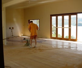 Sand and refinish your hardwood floors with a converted floor polisher