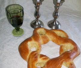 Star of David Shaped Challah Bread