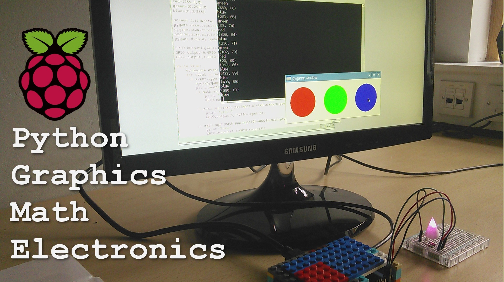 Picture of Raspberry Pi - GPIOs, Graphical Interface, Pyhton, Math, and Electronics.