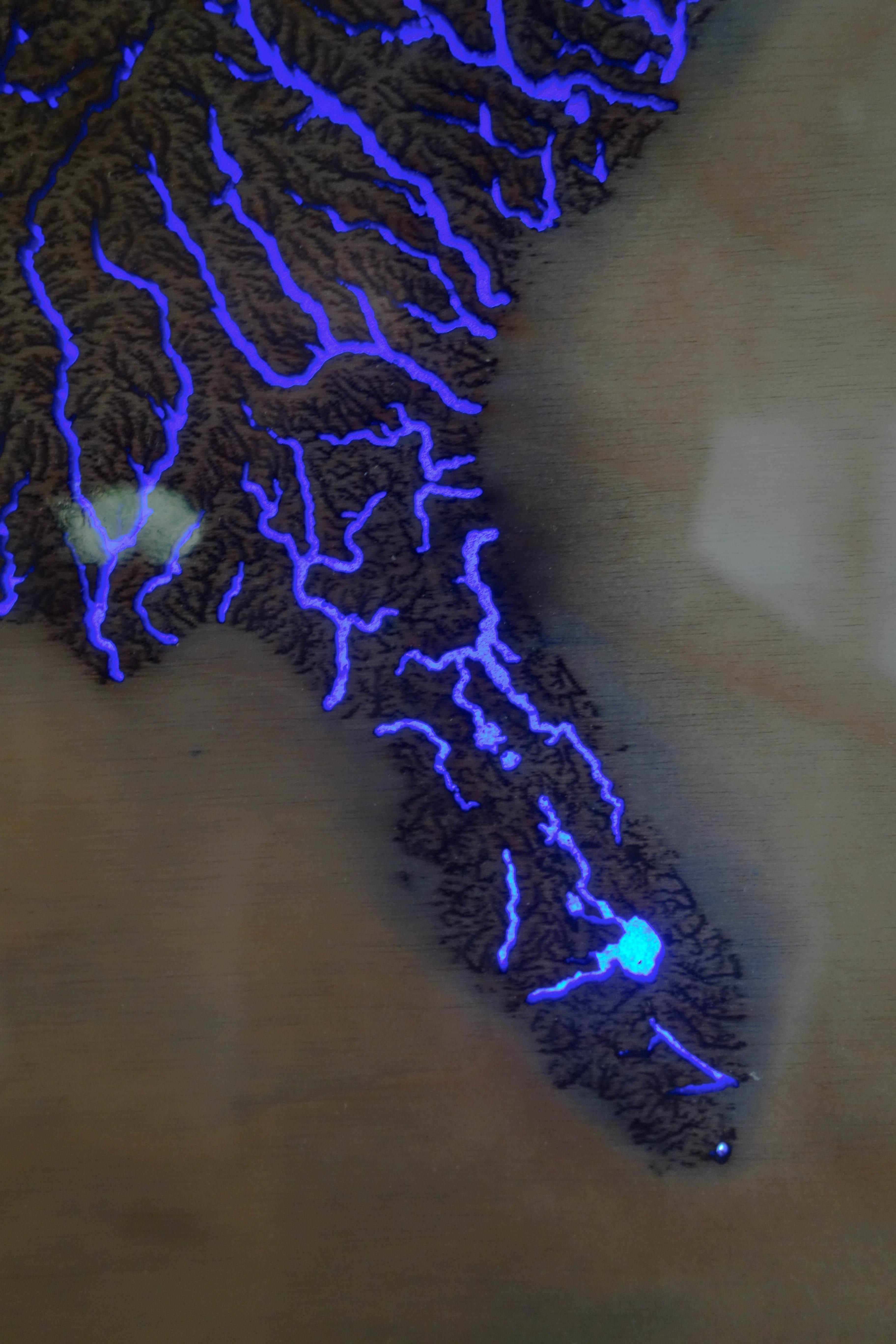 Picture of Illuminated Waterways of the United States Map