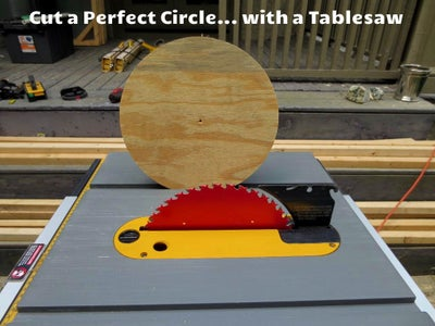 Cut Circles on a Table Saw