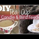 Teacup Bird Feeder & Candle