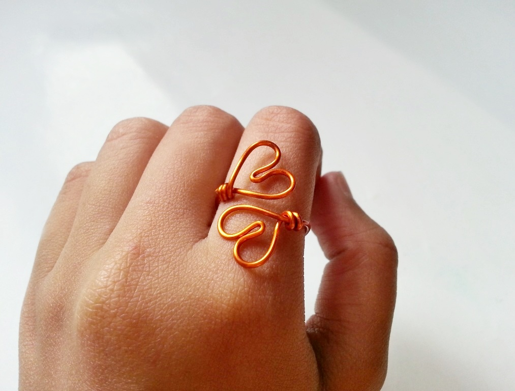 Picture of DIY Simple Double-Heart Ring