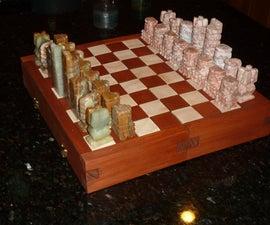 Interlocking Chess/Checker Board Puzzle