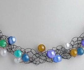 Stash Busting Easter Egg Inspired Knit Necklace