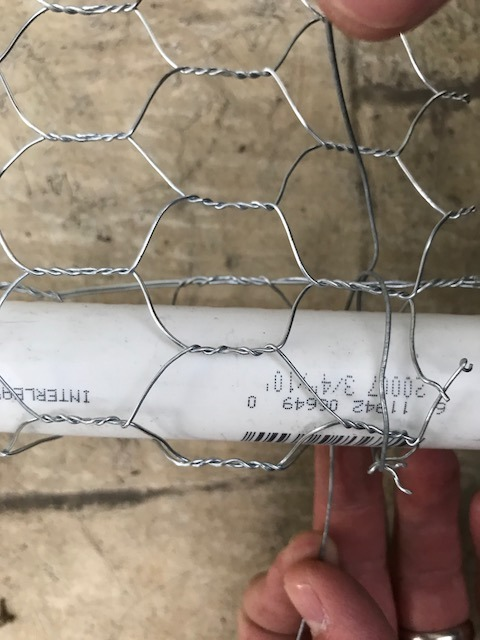 Picture of Cut Wire, Tie Mesh to PVC Structure