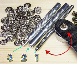 How to Mount Snap Fasteners for Clothes With the Tools in the Kit