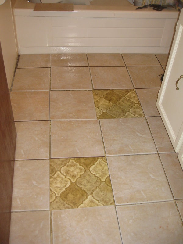 DIY Reno New Tile Flooring + How to Change a Toilet