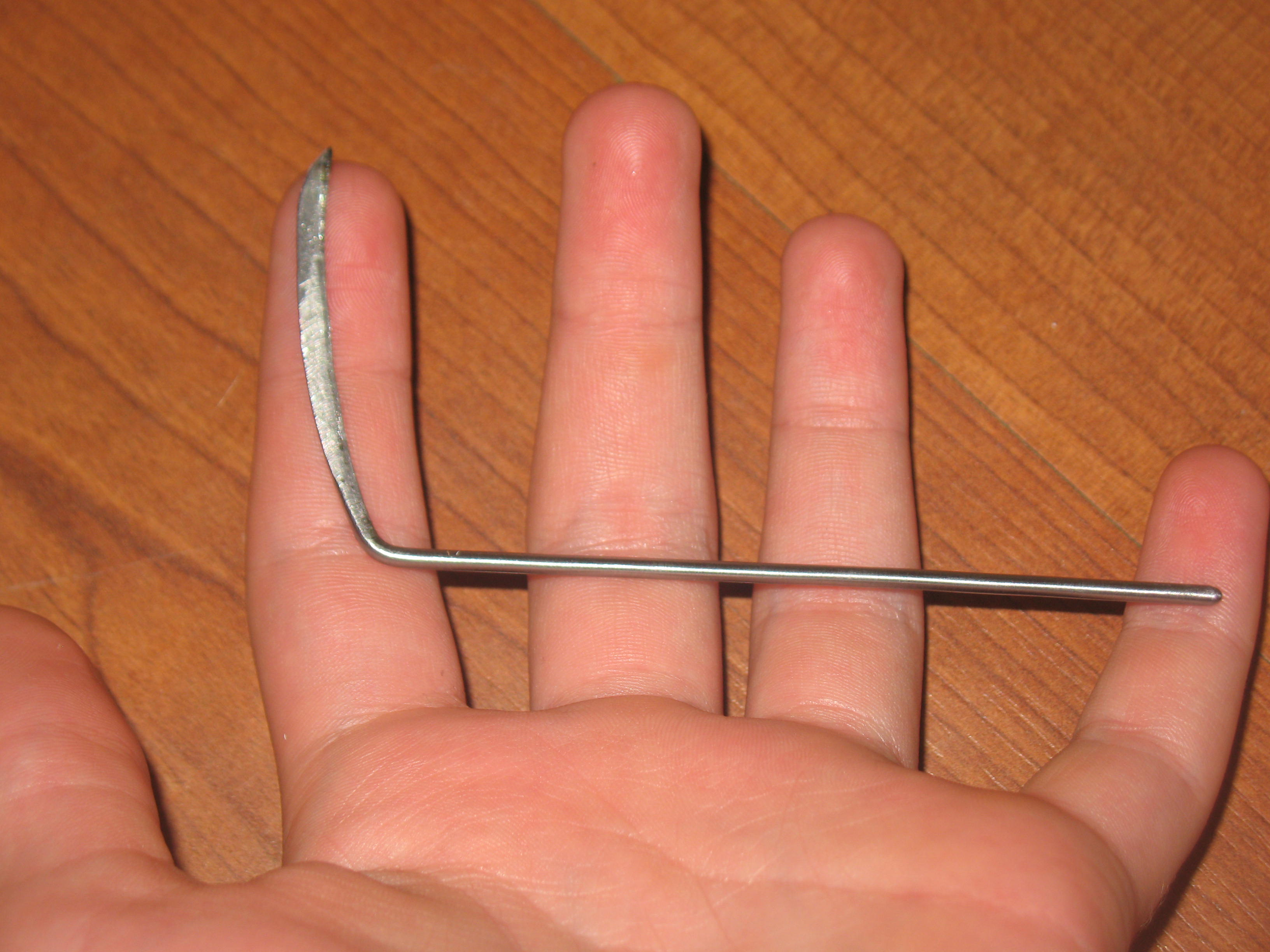 Picture of A Couple of Wire Coat Hanger Tools