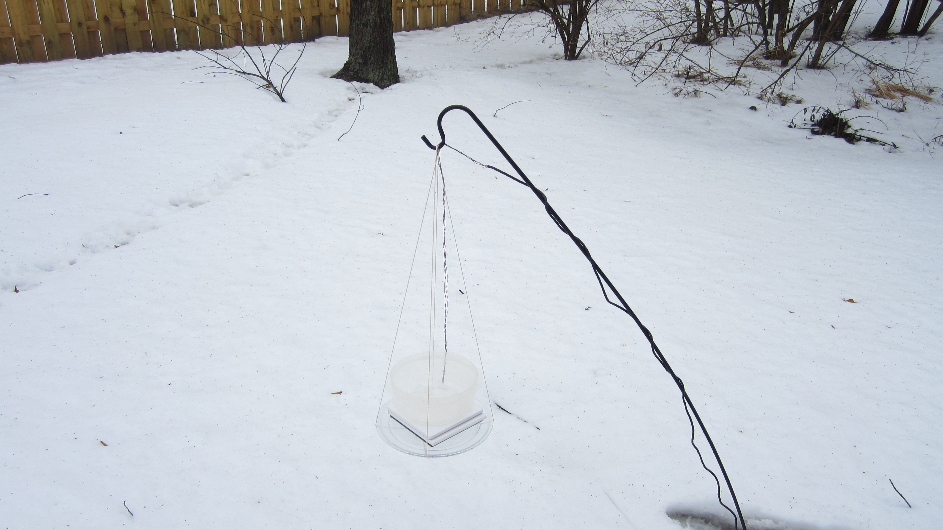 Picture of Set Up the Scale to Monitor Snowfall