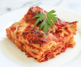 how to make a basic lasagna