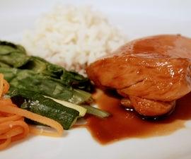 Chicken with Garlic Teriyaki