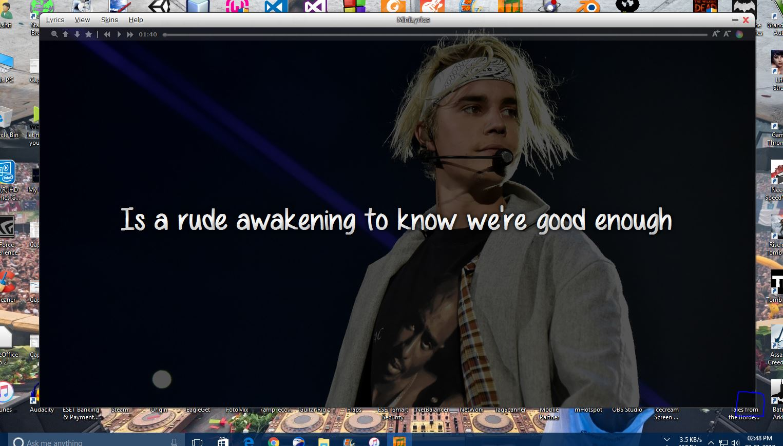 Picture of Customize Display of Lyrics