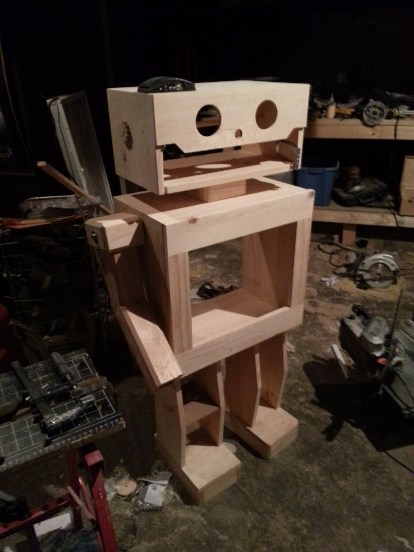 Picture of Wooden Robot Entertainment Stand