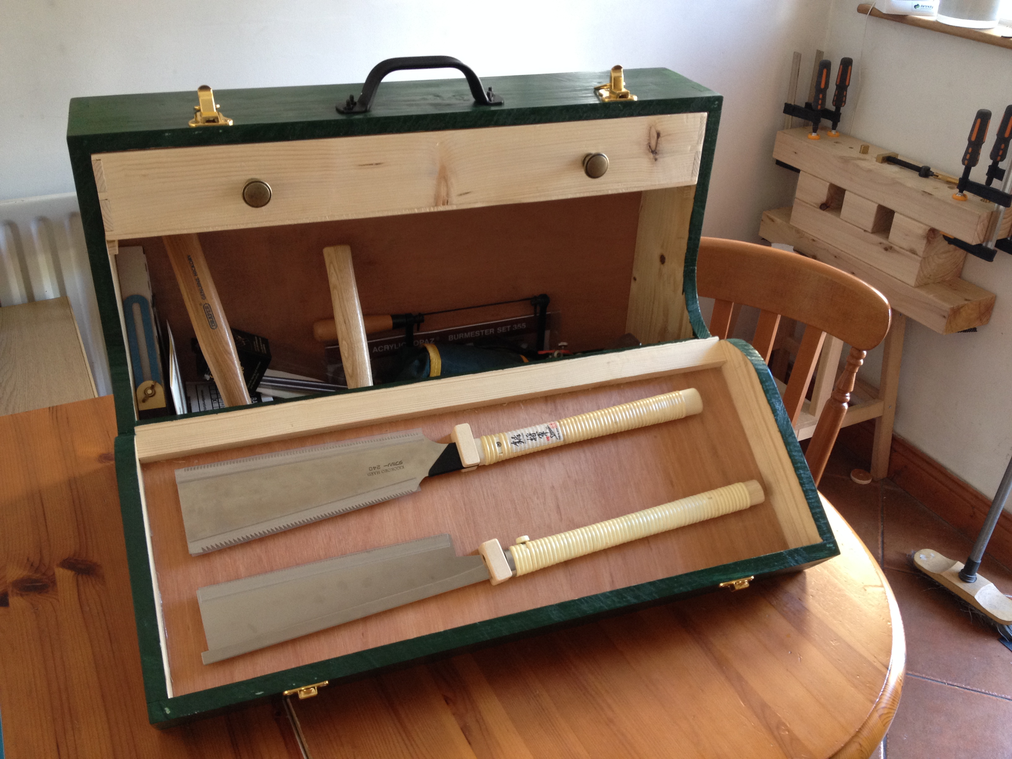 Picture of Beginning Woodworking Part 2: Fall Front Wooden Toolbox