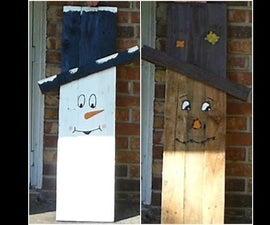 Pallet Scarecrow/Snowman
