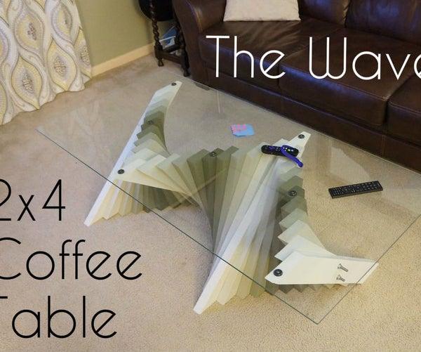 2x4 Wave Coffee Table