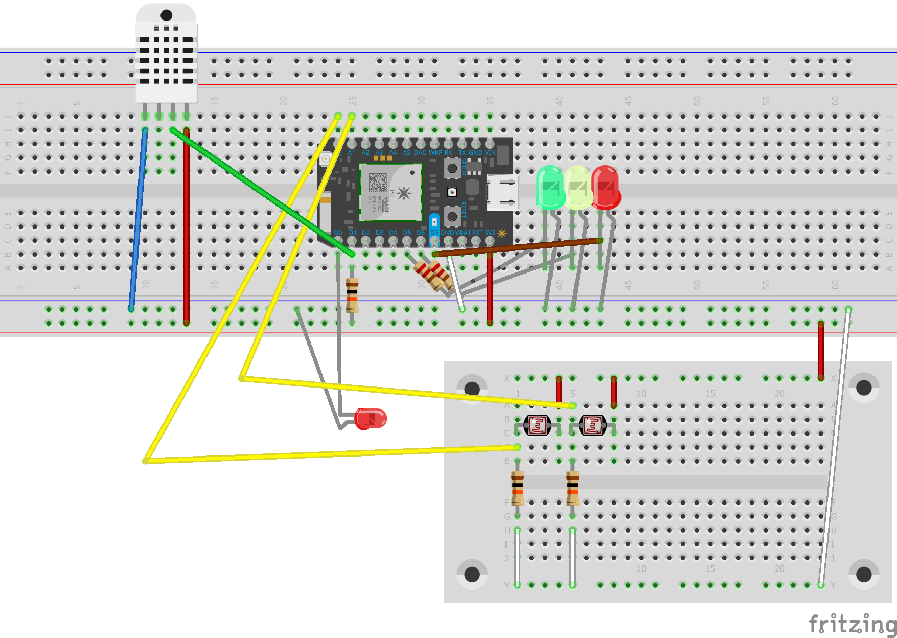 Picture of Setting Up the LDR's, Laser and Humidity Sensor