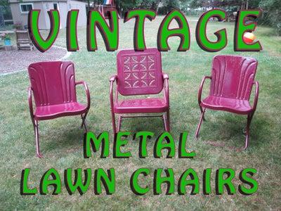 Rejuvenate Vintage Metal Lawn Chairs
