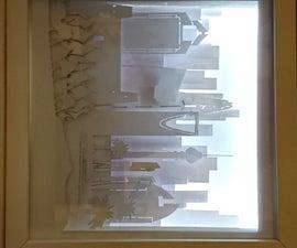 Riyadh Skyline- Shadow Box