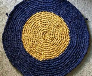 Circular Rag Rug, Crocheted!