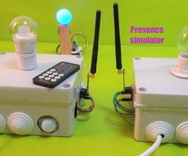 Home Presence Simulator and Security Control Device