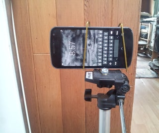 Emergency and Very Simple Cellphone Holder for a Tripod
