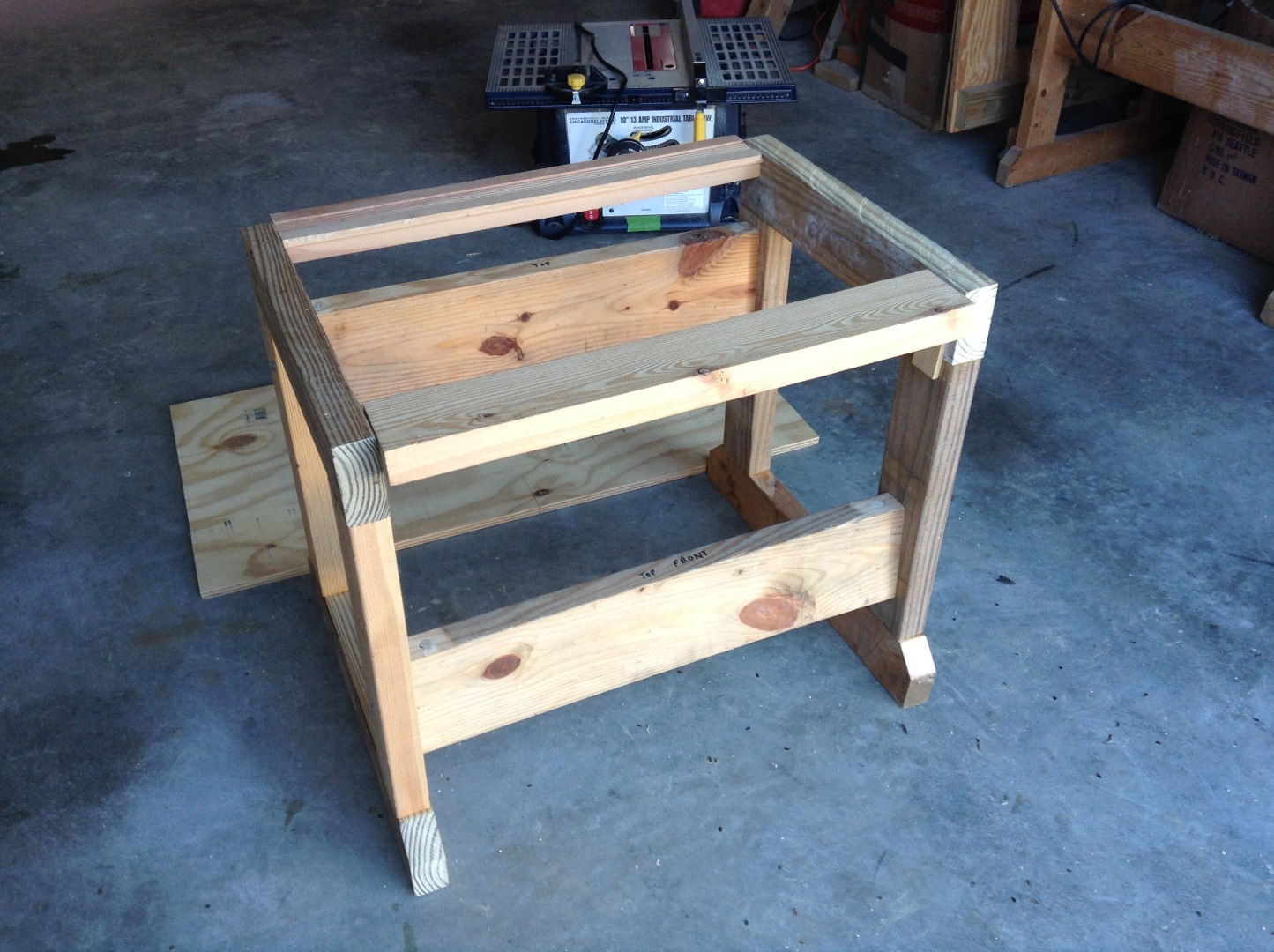 Picture of Add the Supports for the Tablesaw