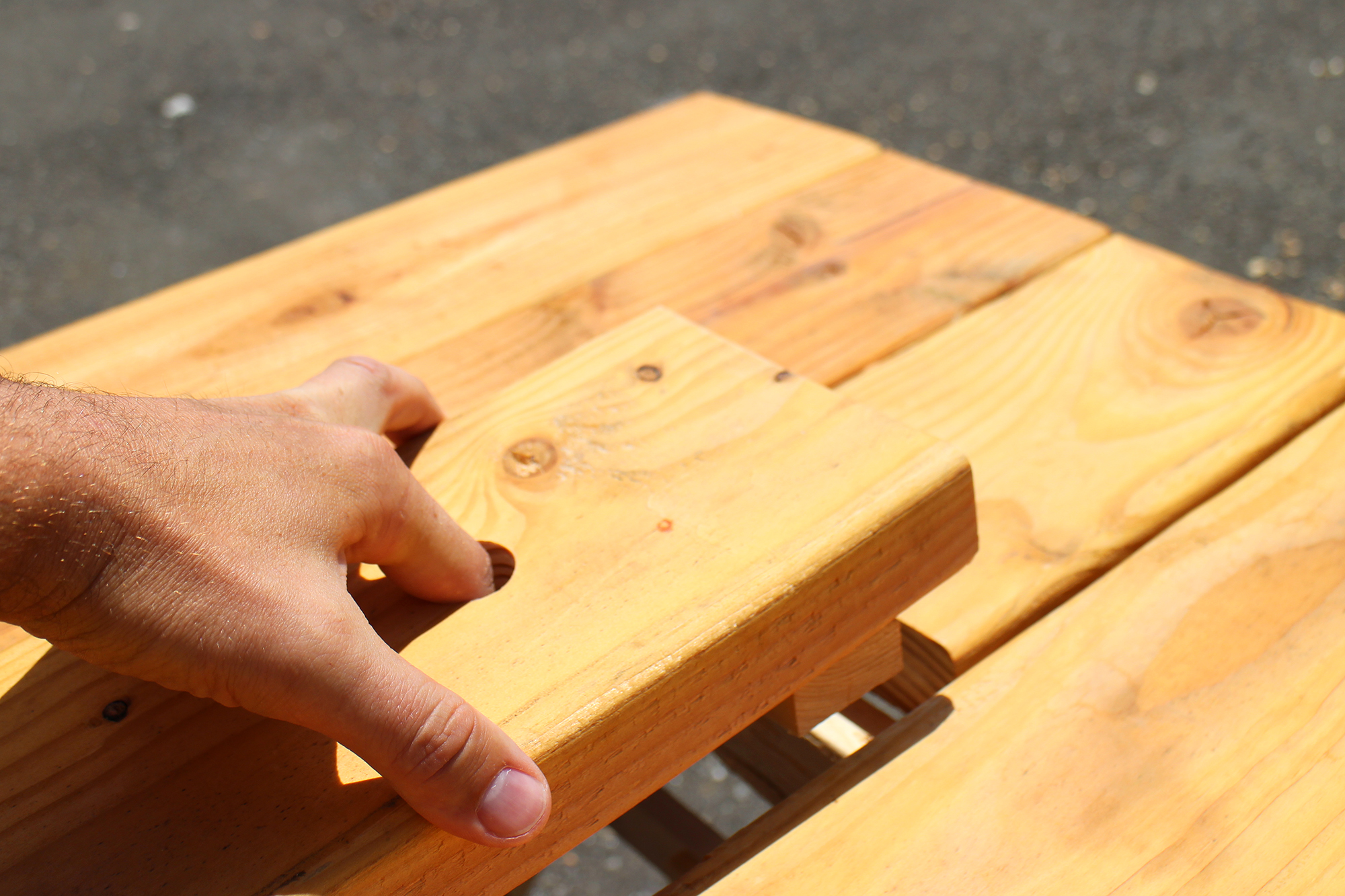 Picture of Finger Hole for Center Plank
