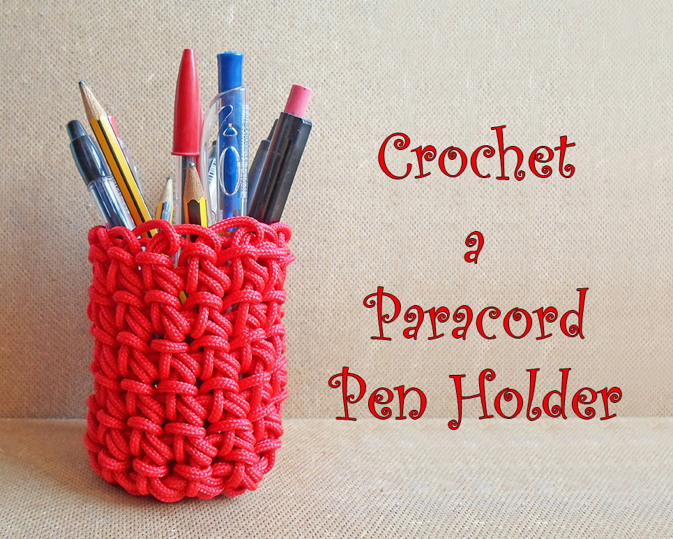 Picture of Crochet Paracord Pen Holder