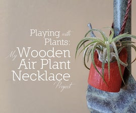 Wooden Air Plant Necklace