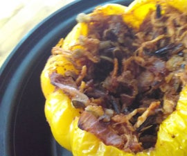 Wild Rice Stuffed Bell Peppers