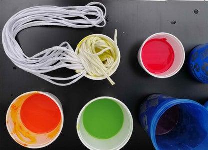 Paint the T-shirt Yarn Strips