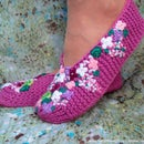 Knit slippers Lilac